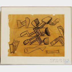Gabriel Kohn (American, 1910-1975)      Drawing for Sculpture,