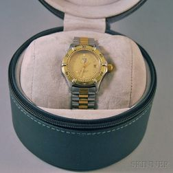 Lady's Tag Heuer 964.008R Professional Gold-plated and Stainless Steel Wristwatch
