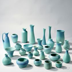 Twenty-six Pieces of Van Briggle Pottery