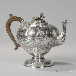 Samuel Kirk .917 Silver Teapot