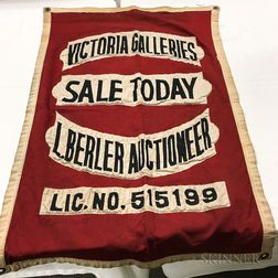 """Victoria Galleries"" Auctioneer's Flag"