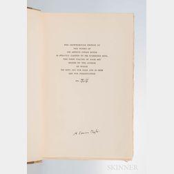 Doyle, Sir Arthur Conan (1859-1930) Works ,  The Crowborough Edition, Signed.