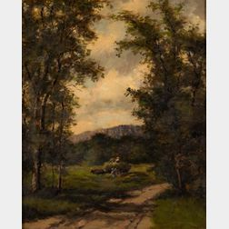American School, 19th Century      View from a Country Path