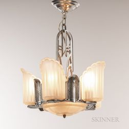 Three Art Deco Chandeliers