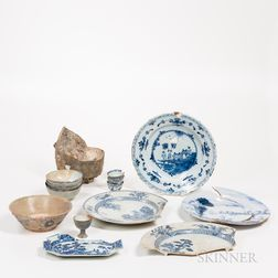 Group of Shipwreck Ceramics and Fragments