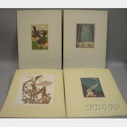 James Dexter Havens (American, 1900-1960)      Lot of Four Prints: