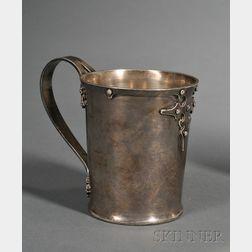 Shreve & Co. Sterling Arts & Crafts Mug