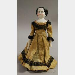 Porcelain Shoulder Head Doll