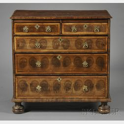 William & Mary Oyster Veneered Chest of Drawers