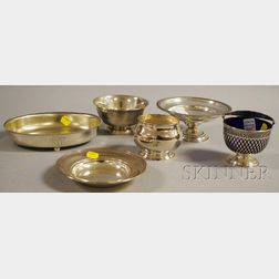 Six Small Sterling Tableware Items