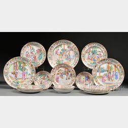Seventeen Rose Mandarin Porcelain Tableware Items