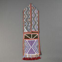 Chippewa Beaded Cloth Bandolier Bag