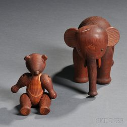 Design Research Elephant and Monkey Figures