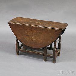 William & Mary Oak Gate-leg Drop-leaf Table