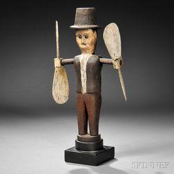 Man in Top Hat Whirligig