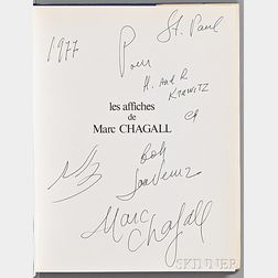 Sorlier, Charles (1921-1990) Les Affiches de Chagall  , Signed and Inscribed by Chagall.