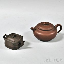 Two Yixing Covered Teapots