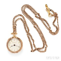 Lady's Antique Gold Open-face Pendant Watch, Tiffany & Co.