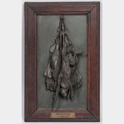 Pierre-Jules Mene (French, 1810-1879)      Bronze Plaque The Day's Bag