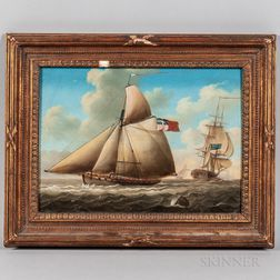 English School, 19th Century      Maritime Scene