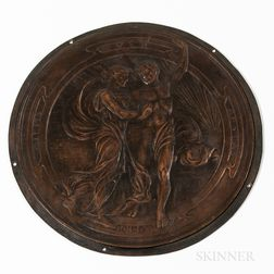 Julia Bracken Wendt (American, 1870-1942) Patinated Bronze Plaque of the Four Seasons