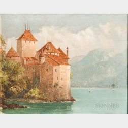 John Ferguson Weir (American, 1841-1926)      Chateau de Chillon