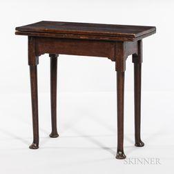 Queen Anne Oak Card Table