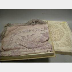 Chinese Embroidered Pale Plum Silk Shawl
