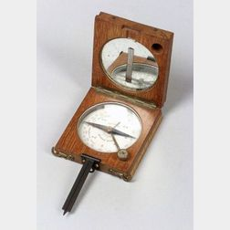 Mahogany Pocket Compass