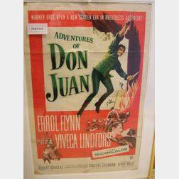 Ten Framed One Sheet 1940-50s Cinema Posters