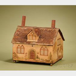 English Cottage-Form Painted Desk Box