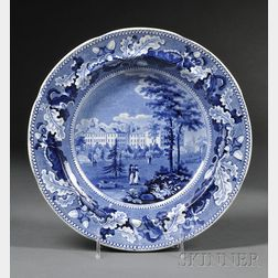 "Historical Blue Transferware ""HARVARD COLLEGE"" Soup Plate"