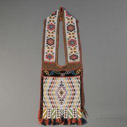 Great Lakes Beaded Cloth Bandolier Bag
