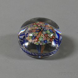 Antique Pom-pom Art Glass Paperweight
