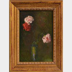 John Joseph Enneking (American, 1841-1916)      Still Life with Carnations