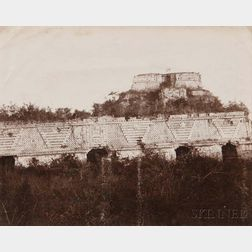 Attributed to Claude-Joseph Désiré Charnay (French, 1828-1915)      Palais des Nonnes, Uxmal, Mexico