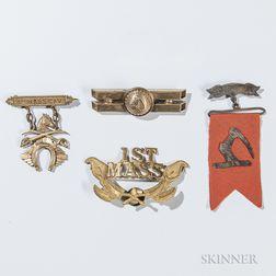 Group of 1st Massachusetts Cavalry Veteran's Medals
