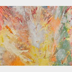 Sam Gilliam (American, b. 1933)      Yellow Fan-White Float