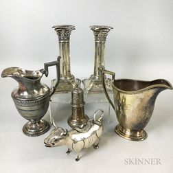 Six Pieces of Silver Tableware