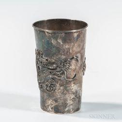 Chinese Export Silver Beaker