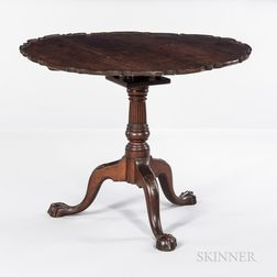 Chippendale Carved Mahogany Tea Table