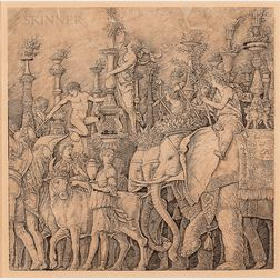 After Andrea Mantegna (Italian, 1431-1506), Probably by Giovanni Antonio da Brescia (Italian, c. 1460-c. 1525) Plate from The Triumph o