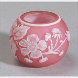 Webb Miniature Cameo Glass Rose Bowl