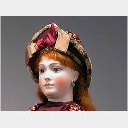 Large Jumeau French Bisque Portrait Lady Doll