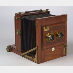 Rare Gandolfi Stereo Tailboard Camera