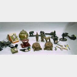 Approximately Twenty Assorted Ethnographic Souvenir and Cultural Items