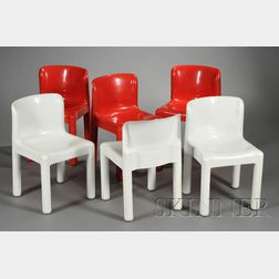 Six Kartell Chairs by Beylerian