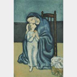 Jacques Villon (French, 1875-1963) ), After Pablo Picasso (Spanish, 1881-1973)      Maternité