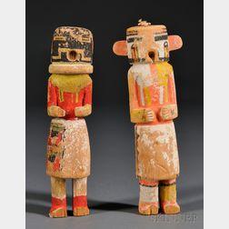 Two Hopi Carved Wood Kachinas