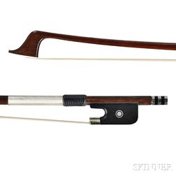 French Nickel-mounted Violoncello Bow, Marc Laberte